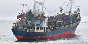 The MV Sun Sea cargo ship brought 492 Tamil migrants to the B.C. coast in August 2010 ( Source: ocanada.com)